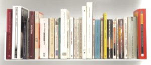 Photo of books on a shelf